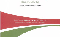 Hazel Cleaning Services Safe Counter Accreditation Certificate